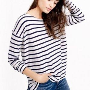 J. Crew XS Deck Striped Cotton T-Shirt Pullover